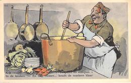 HUMOUR Humor ( Belgique Belgie )  MILITARIA A La Cuisine ... Encore Des Haricots / In De Keuken ... Meer Bonen - CPSM GF - Humor