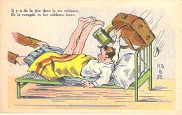 HUMOUR Humor (Belgique Belgie)  MILITARIA Joie Dans La Vie Militaire / Vreugde In Het Soldaten Leven - CPSM Illustrée GF - Humor