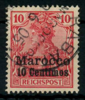 DEUTSCHE AUSLANDSPOSTÄMTER MAROKKO Nr 9 Gestempelt X707862 - Deutsche Post In Marokko