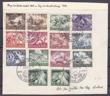 Deutsches Reich - 1943 - Michel Nr. 831/843 - Sonderstempel 100 Jahre Postamt - Briefst. - Gebruikt