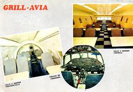 Carte Publicitaire GRILL-AVIA Avion Restaurant Au Carrefour AMBERIEU EN BUGEY 01 (2 Scans) - Otros Municipios