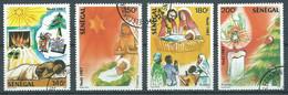 Sénégal YT N°738/741 Noel 1987 Oblitéré ° - Senegal (1960-...)
