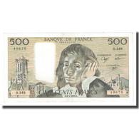 France, 500 Francs, 1991, 1991-05-02, TTB+, Fayette:71.47, KM:156h - 500 F 1968-1993 ''Pascal''