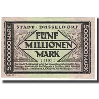 Billet, Allemagne, 5000000 Mark, STADT DUSSELDORF, SPL - [17] Vals & Specimens