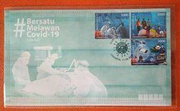 "Indonesia 2020, V.26 FDC COVID-19 ""BERSATU MELAWAN COVID-19"" - Indonesia"