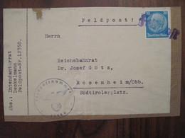 Feldpost Feldpostnummer 12358 Rosenheim Reich Allemagne Kommando 215. Infanterie-Division - Cartas