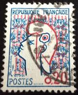 N° 1282   OBLITÉRÉS  ( LOT:2853  ) - 1961 Marianne De Cocteau
