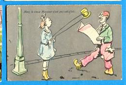 COVR1320, Mais Le Vieux Monsieur N'est Pas Satisfait, Corde à Sauter, Chapeau, Journal, Non Circulée - Humour