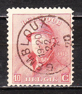 168  Roi Albert Casqué - Bonne Valeur - Oblit. Centrale GEMBLOUX - LOOK!!!! - 1919-1920 Albert Met Helm