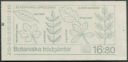Sweden  / Sverige: Sc# 1653a - 1987 - 16,80 Kr. Booklet - Botanical Gardens/Botaniska Trägardar MNH - 1981-..