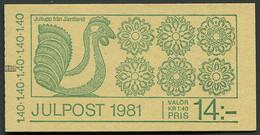 Sweden / Sverige: Sc# 1391a - 1981 - 14 Kr. Booklet -  Christmas/Jul MNH - 1981-..