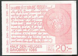 Sweden / Sverige: Sc# 1539a - 1985 - 20 Kr. Booklet -  Canute The Holy/Knut Den Heliges MNH - 1981-..