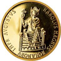 Monnaie, Belgique, Charlemagne, 50 Ecu, 1989, SPL, Or, KM:174 - 12. Ecus