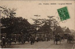 CPA AK VIETNAM TONKIN Hanoï - Le Grand Marché (61054) - Vietnam