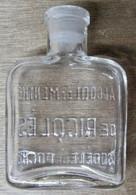FLASQUE BOUTEILLE EN VERRE ALCOOL DE MENTHE DE RICQLES MODELE DE POCHE - Autres Bouteilles