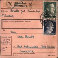 ! 1943 Dahmsdorf-Müncheberg Nach Bad Liebenwerda, Paketkarte, Deutsches Reich, 3. Reich - Lettres & Documents