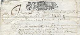 1699 1702 / Généralité De Paris N° 225 X 2 / 1 Sol 4 Den / Usurpation Titre Noblesse / Ch De Prunaulieu Sr Prouville 80 - Historical Documents