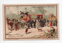 - CHROMO CHOCOLAT GUÉRIN-BOUTRON - PARIS - Série Moyens De Transports N° 20 : LE CHAR A BANCS - - Guerin Boutron
