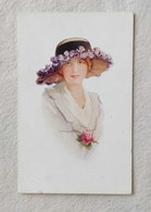 """Cartolina Postale Illustratore C.W. Barber """"Mabel"""" Serie 6974 N.73 - Non Viaggiata - Barber, Court"""