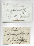 RENNES Ille Et Vilaine 2 Marques Noires RENNES 1781 1783  .....HH - 1701-1800: Vorläufer XVIII