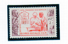 Cote Des Somalis 1950 Oeuvres Sociales   YT 283 Neuf** - Nuovi