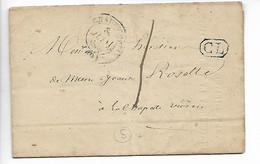 CHAUVIGNY Vienne Tarif 1 Décine Pour CHAPELLE VIVIERS + Cachet CL Correspondance Locale 1850   .....HH - 1849-1876: Periodo Clásico