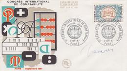 1529 FDC COMPTABILITE - Signé DECARIS - PARIS 2.9.67 - 1960-1969