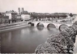 71 - Chalon Sur Saône - Pont Saint Laurent Sur La Saône Et L'Eglise Saint Vincent - Chalon Sur Saone