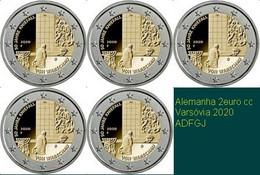 Alemanha 2euro Cc- 50 Aniv. Genuflexión De Varsovia-2020 UNC - Duitsland