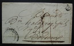 Le Mas (Lot Et Garonne) 1838 Boîte Rurale T Et Décime Rural, Cachet De Tonneins, Pour Bordeaux - 1801-1848: Precursores XIX