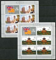 Niue 1977 Silver Jubilee Sheetlet Set MNH (SG 213-214) - Niue