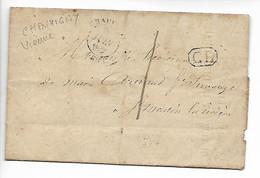 CHAUVIGNY Vienne Tarif 1 Décime Pour ST MARTIN LA RIVIERE + Cachet CL Correspondance Locale 1845   .....HH - 1801-1848: Precursores XIX