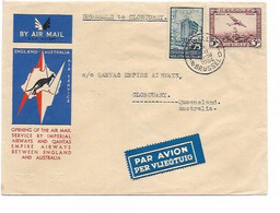 SH 0656. PA 4 + TP 389 BRUXELLES 6.XII.1934 S/Lettre Imperial Airways/QUANTAS BRUSSELS TO CLONCURRY (QUEENSLAND).TB - Luchtpost