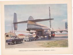 Chromo : Image Pédagogique : Transport Aérien : Avion : BREGUET 2 Ponts : Automobiles : à Identifier - Voir Description - Otros