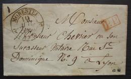 Avenières (Isère) 1846 Cad Type 12 De Morestel, Lettre En Port Payé Pour Lyon - 1801-1848: Precursores XIX