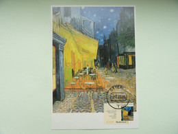 CARTE MAXIMUM CARD CAFE TERRACE AT NIGHT BY VINCENT VAN GOGH PATS BAS - Impressionisme