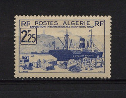 ALGERIE - Y&T N° 157* - MH - Exposition Internationale De New-York - Unused Stamps
