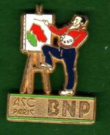 Pin's BNP ASC Paris Peinture Zamac  Ballard - Unclassified