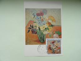 CARTE MAXIMUM CARD ROSES AND ANEMONES BY VINCENT VAN GOGH MALI - Impressionisme