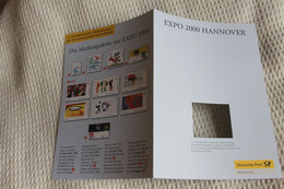 Deutschland 2000; Treuegabe Der Deutsche Post, Gedenkblatt : EXPO 2000 HANNOVER; Bitte Lesen - 2000 – Hannover (Duitsland)