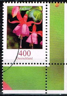 Bund 2015,Michel# 3190  O Blumen: Fuchsie, Eckrand - [7] Federal Republic