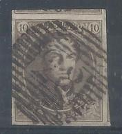 10c Brun Très Bien Margé  (2 Voisins) P83 Mons - 1858-1862 Medallions (9/12)