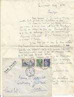 N°311+411+365 LETTRE BATEAU AVION MARSEILLE A KOBE N° 3 5.1.1939 + CORRESPONDANCE DE  DJIBOUTI RARE - Posta Marittima