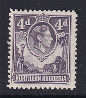 Northern Rhodesia: 1938/52   KGVI     SG36   4d      MH - Rhodésie Du Nord (...-1963)