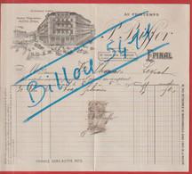 Facture P . PEIFFER  Au Printemps à EPINAL  Daté 1906 - Kleidung & Textil