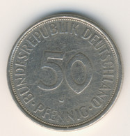 BRD 1971 J: 50 Pfennig, KM 109 - 50 Pfennig