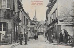 NONANCOURT  :  Rue De L'Hôtel Dieu Prise Du Pont St. Lubin Animée (   Cliché Peu Courant ) - Other Municipalities