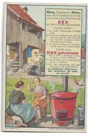"""Carte Postale Publicité """"REX Galvanisée"""" TTTB étét - Werbepostkarten"""