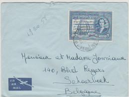 CONGO BELGE - Courrier  - 1956 - COB 340 - Cachet ElisabethVille . - 1947-60: Covers