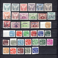 Checoslovaquia   1919-1945  .-  Y&T  Nº  1/8-9/11-12/13-14/16-17/25-2635      Journaux - Zeitungsmarken